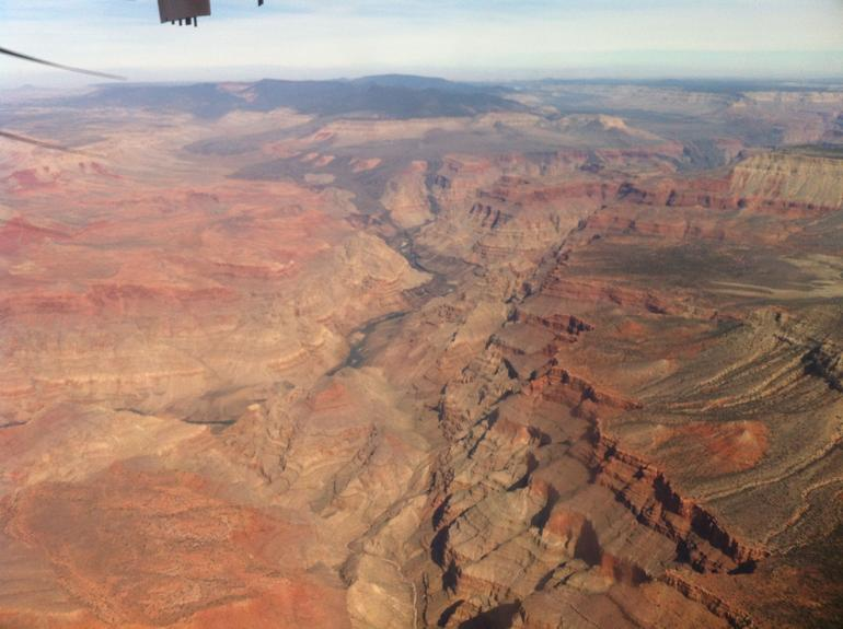 Flying back from the Grand Canyon - Las Vegas
