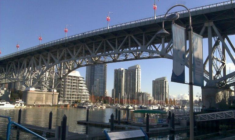 Granville Bridge from Granville Island - Vancouver