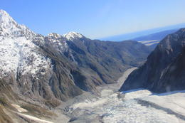 View of the glacier from the helicopter. , newt - October 2011