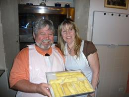 Photo of Florence Tuscan Cooking Class and Dinner in Florence Mark and Amy pose for the groups work