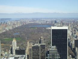 This is Central Park, with the Hudson River to the left of Manhattan., Lindsay F - April 2008