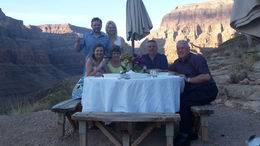 This was us and the rest of our party, a lovely family from New Zealand toasting our engagement. , Graham W - June 2015