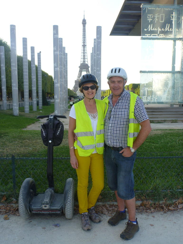 Segway tour with the Eiffel tower behind - Paris