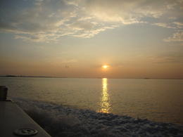 Sunset on the Venetian lagoon. Oct 6, 2014 from the harbor cruise , Barbara S - October 2014