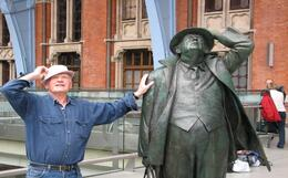 Photo of   Tony Howe with John Betjeman