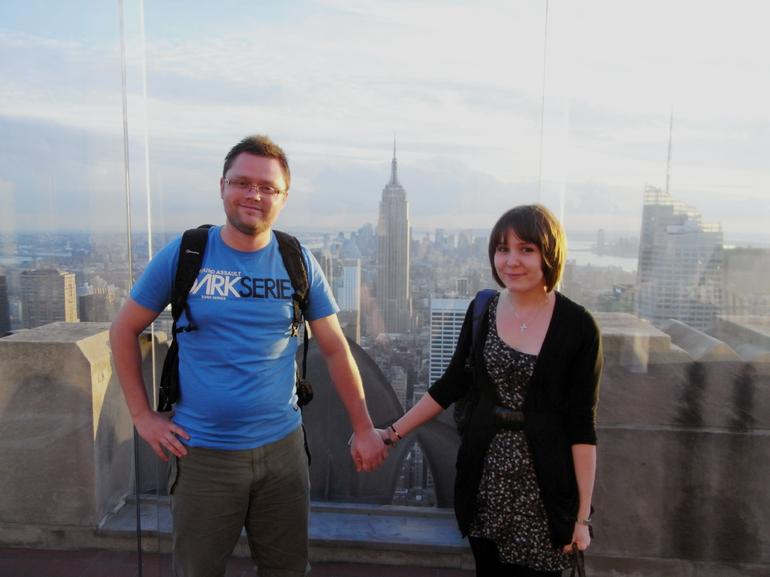 up Top of the rock, with Empire state building behind! - New York City