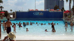 The wave pool at Wet 'n Wild Orlando! - February 2012