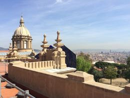 Barcelona landscape from MNAC, SCV - April 2015