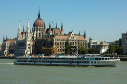 The Hungarian Parliament building, Danube River, Budapest, Hungary - May 2011
