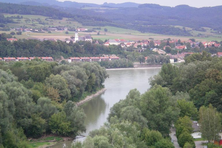 Danube River viewed from the Abbey - Vienna