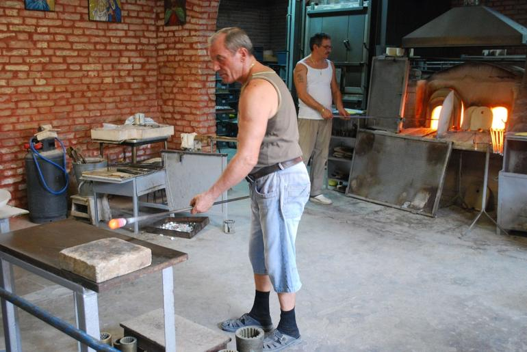 Glass blowing demo at Murano - Venice