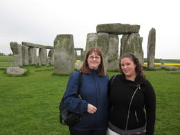 My daughter and I at Stonehenge. It was cold and rainy but still beautiful. , Mary R - May 2012