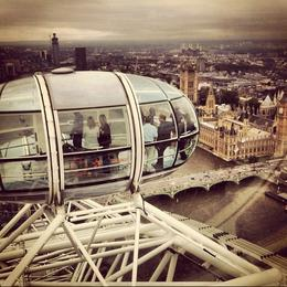 High in the sky in the London Eye!, Ryan & Asha - April 2013