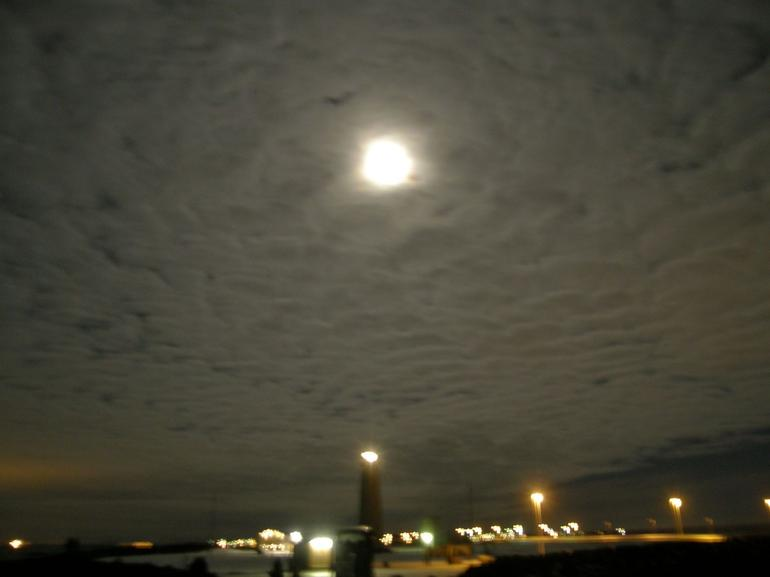Moon and cloud cover - Reykjavik