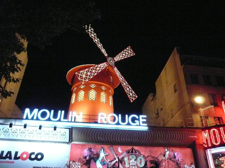 Moulin Rouge from across the road. - Paris