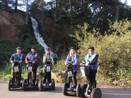 Photo of San Francisco Golden Gate Park Segway Tour Our group in front of the waterfall