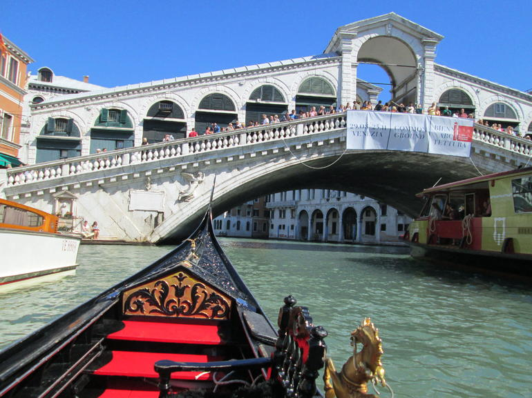 Rialto bridge on Gondola - Venice