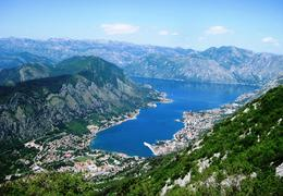 Bay of Kotor from the top of the mountain (we drove around 25 hair pin curves to get there!) , BethanieKay - May 2013