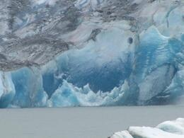 Just look how blue this ice is. This was so amazing to see along with the whale watching tour., Toni G - August 2010