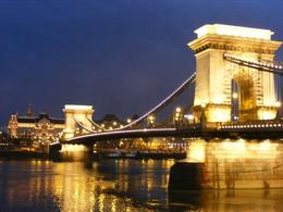 Photo of Budapest Budapest Night Walking Tour and River Cruise Budapest Chain Bridge at Night