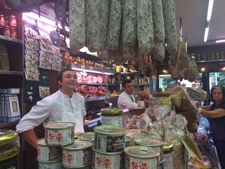 As we did our food tour the butchers