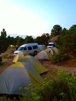 Our campsite in Bryce Canyon, everything was so spacious and clean! - January 2015