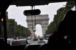 Drive along Champs Elysees with Arc de Triomphe at the end, Vinod R - September 2010