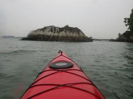 Front view of a kayak - May 2012