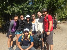 March 13, 2015 El Morado trek with Alejandro and Pablo , Mary Louise W - March 2015