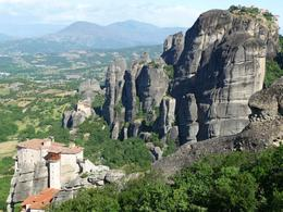 Meteora monasteries- a winding drive up with interesting views, but we didn't make enough stops to make the most of it. A visit to 2 monasteries- the only ones run by nuns- the Holy Monastery of ... , Susan Zee Yeeh L - May 2010