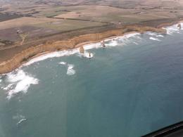 Wonderful view of 12 Apostles, which can only be viewed by Helicopter. God's Creation-Human's observation. - March 2009