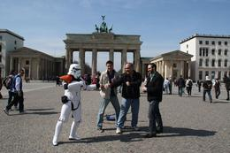 Photo of Berlin Discover Berlin Half-Day Walking Tour Storm Trooper at the Brandenberg Gate