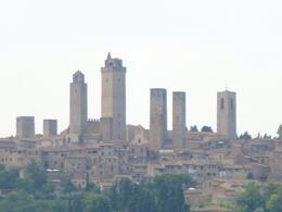 Photo of Florence Tuscany in One Day Sightseeing Tour View of San Gimignano towers from the farm