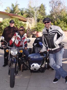 Kevin, our driver, my wife Ally and I, Brian B - September 2010