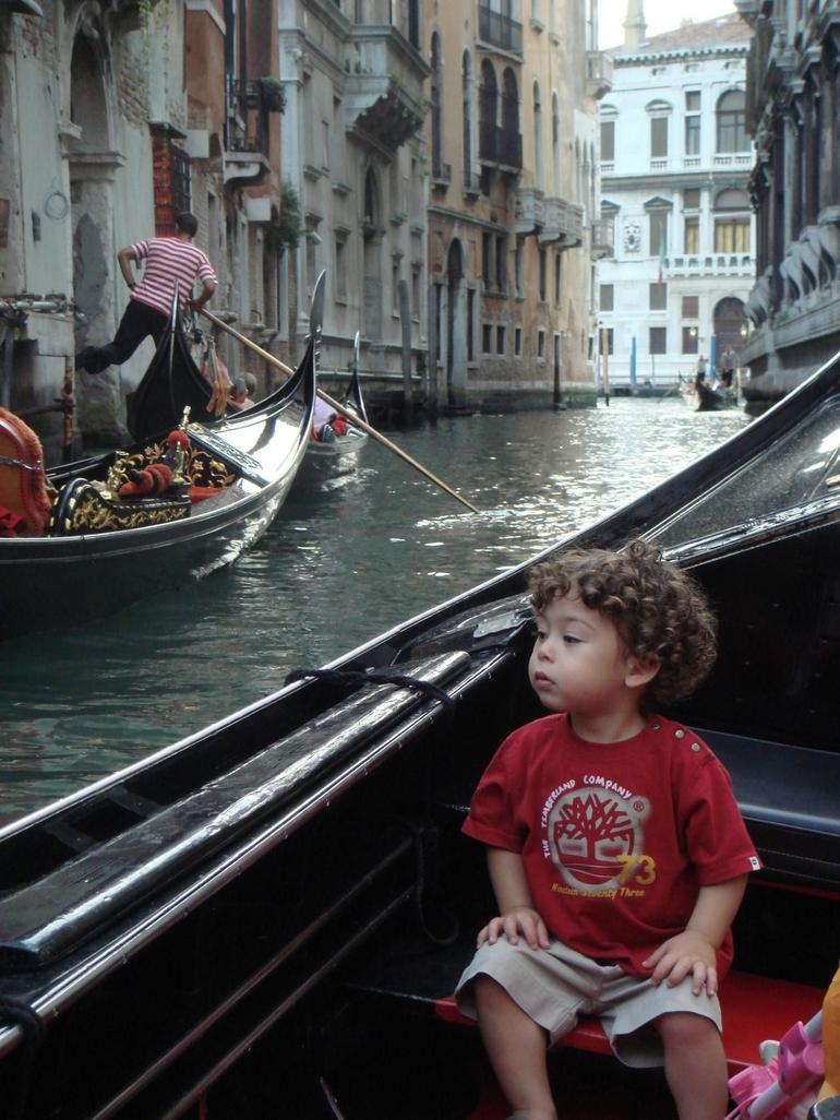 Baby Ryan in Gondola - Venice