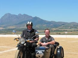 Cape Town wine tour- out on the motorbike and sidecar - February 2010
