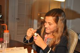 Caroline, age 10, creating her and quot;signature scent and quot; in the Perfume Workshop! , Charles A - August 2014
