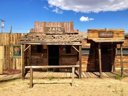 Amazing Ghost Town in a old mining town in Arizona , Madeleine - October 2012