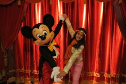 My daughter and Mickey Mouse , Shelly - May 2016