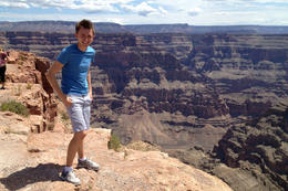 Brock at the Grand Canyon, Jules & Brock - August 2012
