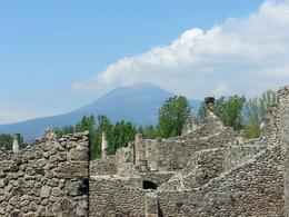 From the tour of Pompeii, the ruins of the ancient civilization, we had a stunning view of the same volcano that was responsible for its demise. , Robert L. - April 2013
