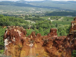 Another impressive view into the valley from Roussillon , April G - October 2015