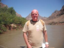 On the boat trip down the Colorado River. It was hot, the man on the boat told us it was over 50 degrees down here!, Paul B - August 2009