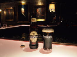 Tasting several Guinness varieties, Rachel - March 2014