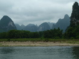 the mountains nearby the Li River , 123gabyn - June 2012