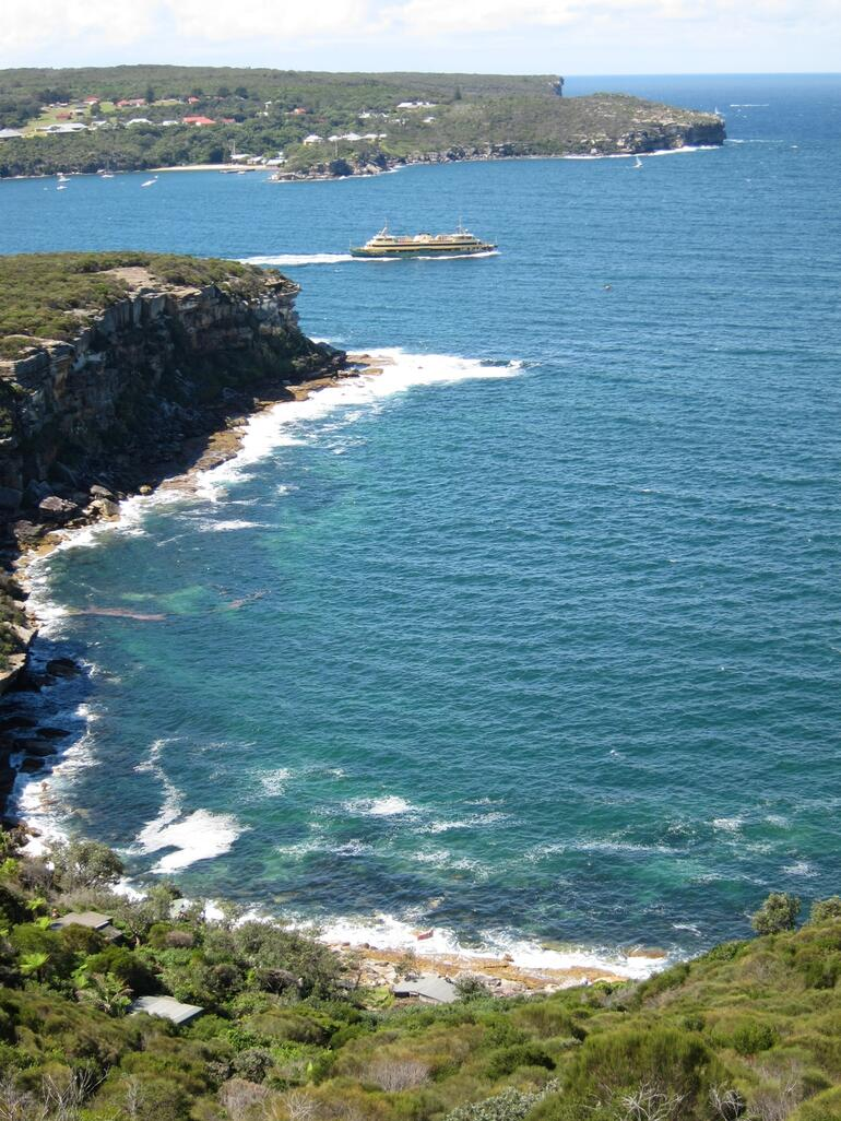 View to North Head with Manly Ferry - Sydney