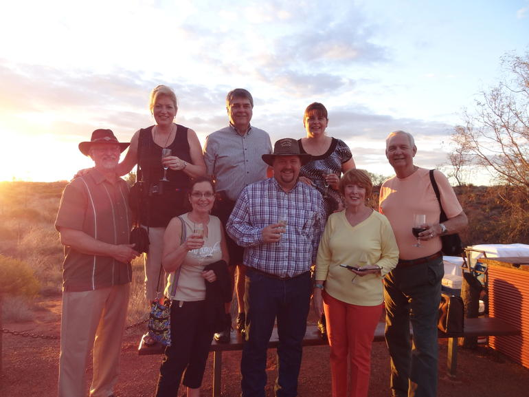 A toast at sunset - Ayers Rock