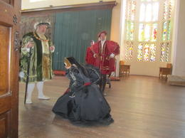 Met Henry VIII and his advisor, as well as a few other characters while touring the palace , LeaAnne E - April 2012