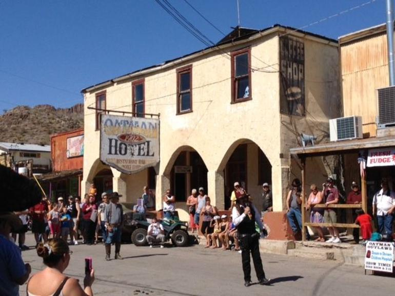 Another cowboy Shootout in Oatman Arizona - Las Vegas