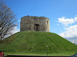 Clifford Tower in York just outside our Hotel... nice view! , Peck Yan C - May 2013
